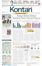 Koran Kontan Cover 20 August 2019