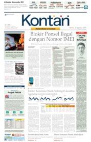 Cover Koran Kontan 22 Agustus 2019