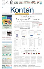 Cover Koran Kontan 10 September 2019