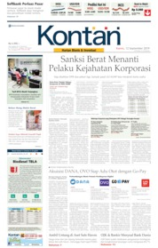 Cover Koran Kontan 12 September 2019