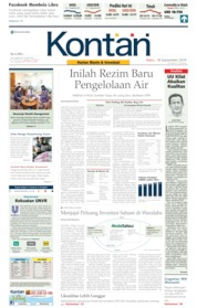 Cover Koran Kontan 18 September 2019