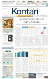 Cover Koran Kontan 23 September 2019