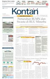 Cover Koran Kontan 30 September 2019