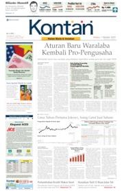 Cover Koran Kontan 01 Oktober 2019