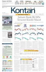 Cover Koran Kontan 03 Oktober 2019