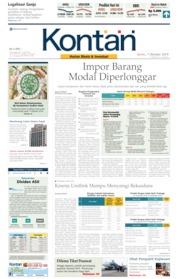 Cover Koran Kontan 07 Oktober 2019