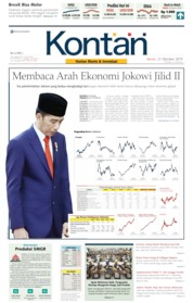 Koran Kontan Cover 21 October 2019