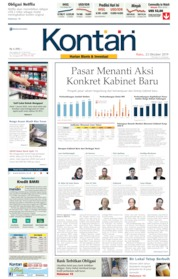 Koran Kontan Cover 23 October 2019