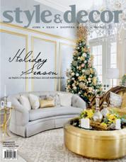 Style & decor Magazine Cover December 2016