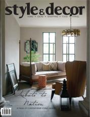 Style & decor Magazine Cover August 2017