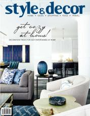 Style & decor Magazine Cover October 2017