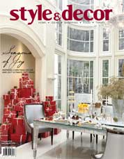 Style & decor Magazine Cover December 2017