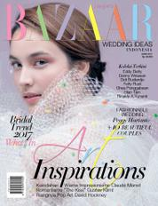 Cover Majalah Harper's BAZAAR WEDDING IDEAS Indonesia 2017