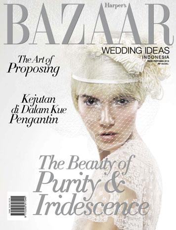 Harper's BAZAAR WEDDING IDEAS Indonesia Magazine Cover ED 01 2012