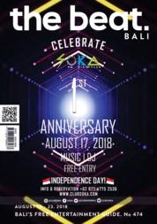 Cover Majalah the beat ED 474 Agustus 2018