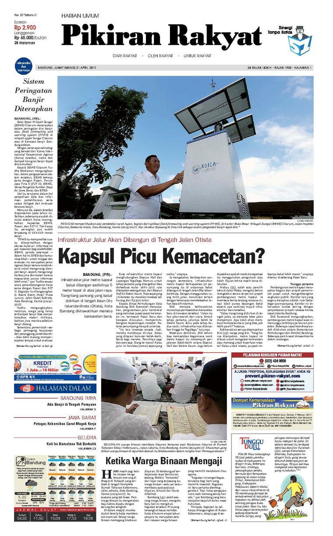 Koran Digital Pikiran Rakyat 21 April 2017