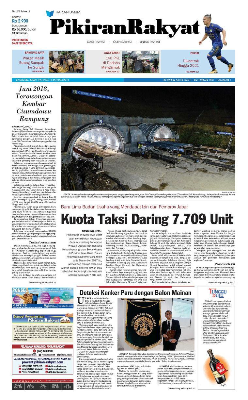Koran Digital Pikiran Rakyat 12 Januari 2018