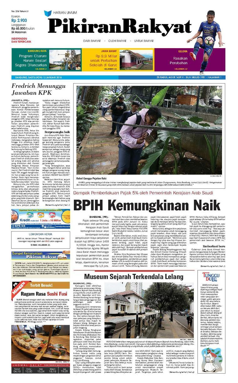 Koran Digital Pikiran Rakyat 13 Januari 2018