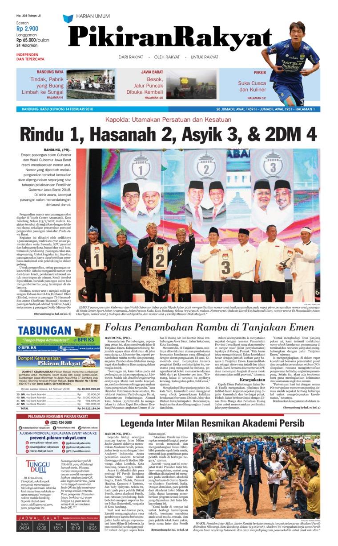 Koran Digital Pikiran Rakyat 14 Februari 2018