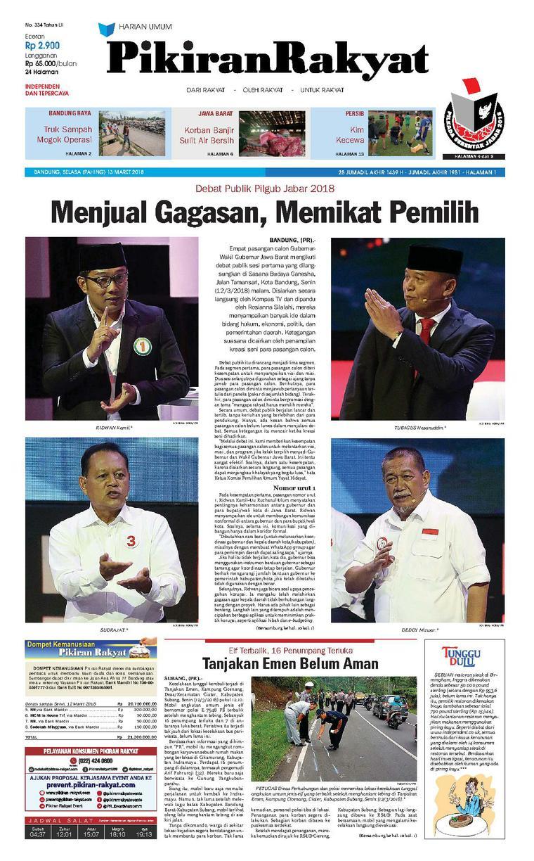 Koran Digital Pikiran Rakyat 13 Maret 2018