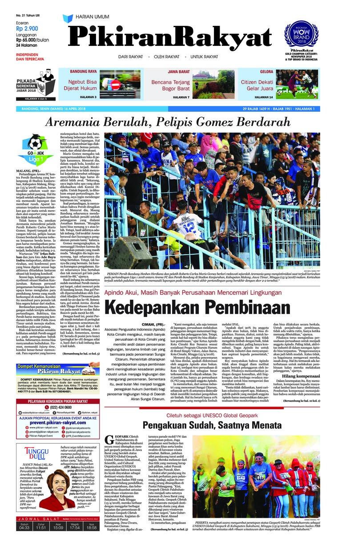 Koran Digital Pikiran Rakyat 16 April 2018