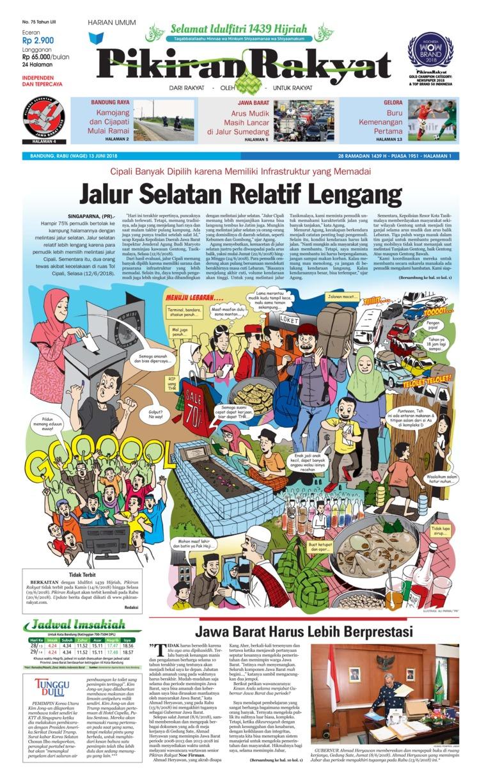 Koran Digital Pikiran Rakyat 13 Juni 2018