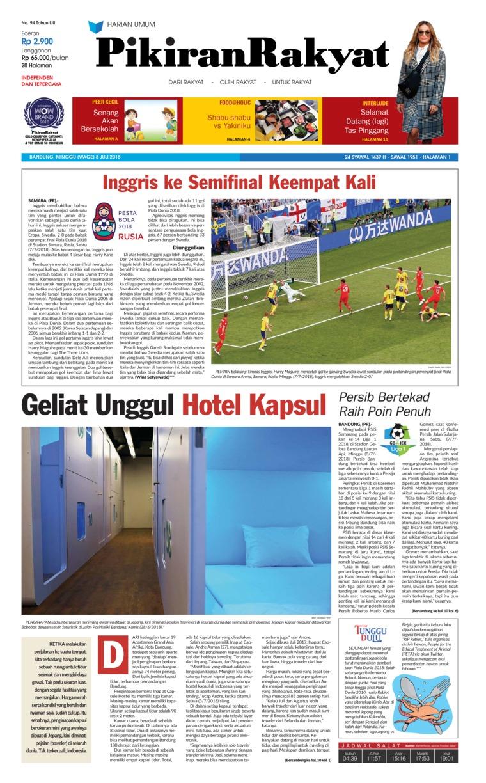 Koran Digital Pikiran Rakyat 08 Juli 2018