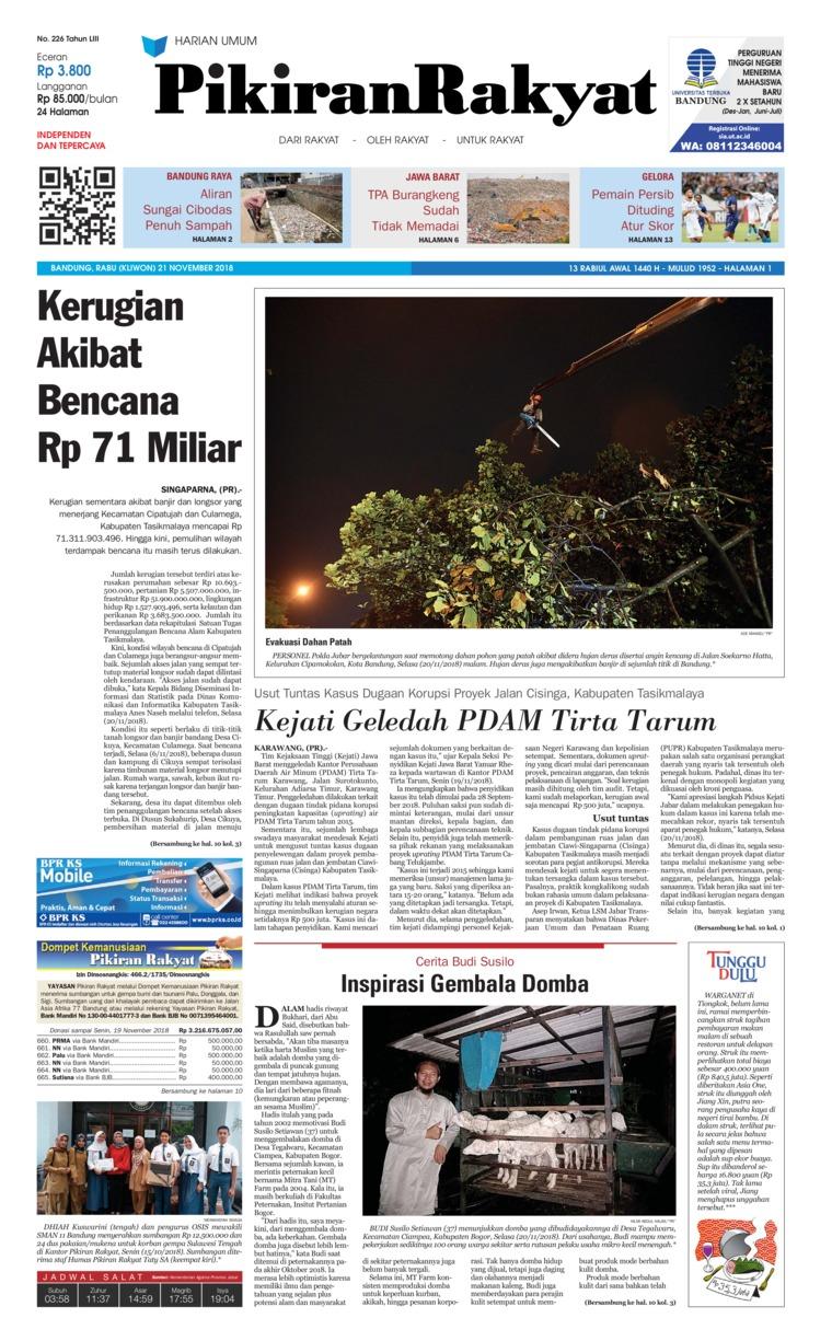 Koran Digital Pikiran Rakyat 21 November 2018