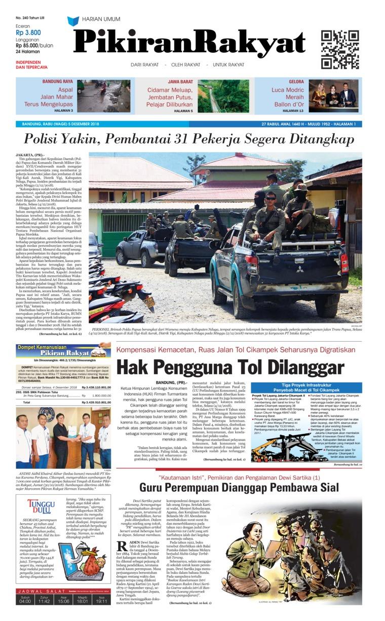 Koran Digital Pikiran Rakyat 05 Desember 2018
