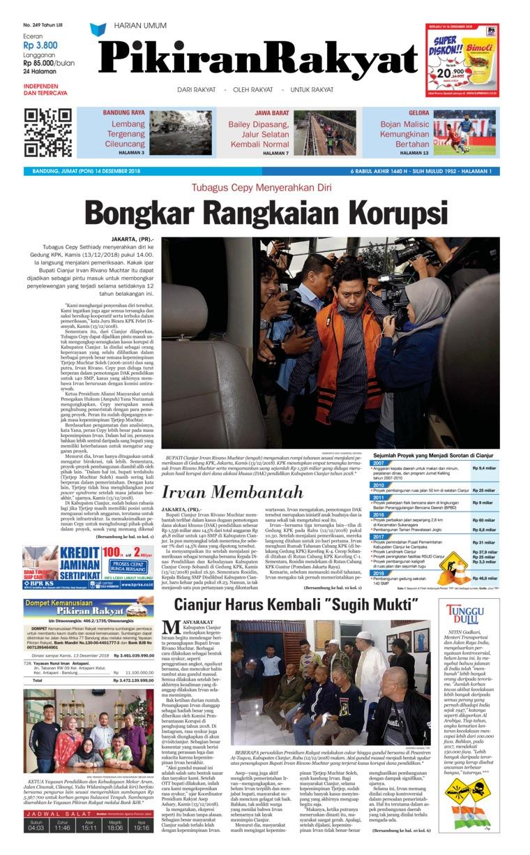 Koran Digital Pikiran Rakyat 14 Desember 2018