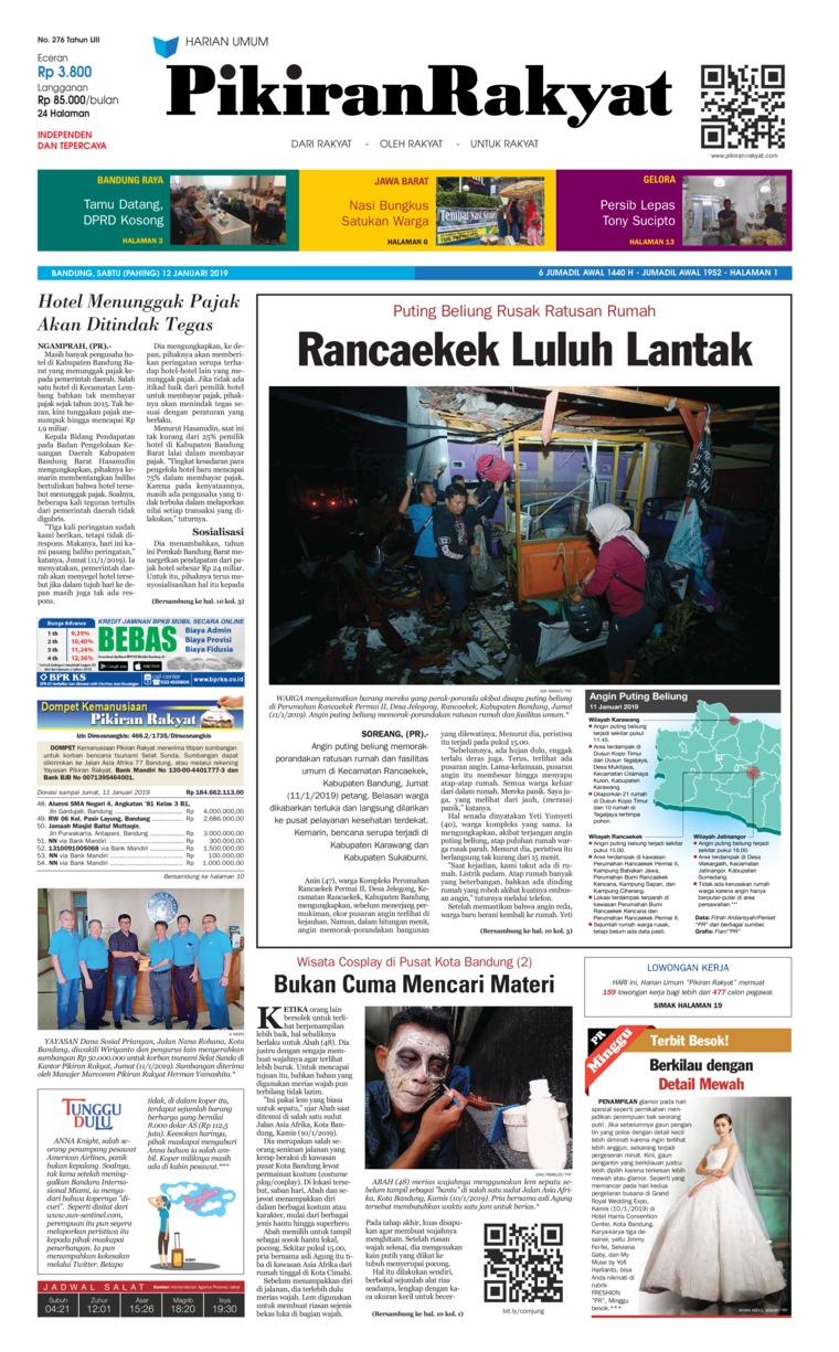 Koran Digital Pikiran Rakyat 12 Januari 2019