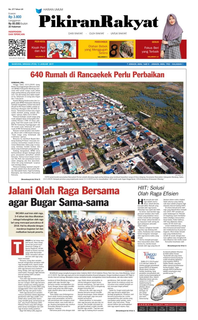 Koran Digital Pikiran Rakyat 13 Januari 2019