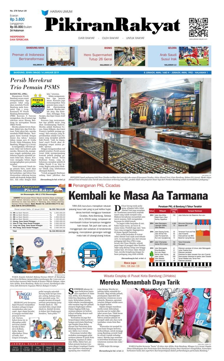 Koran Digital Pikiran Rakyat 14 Januari 2019