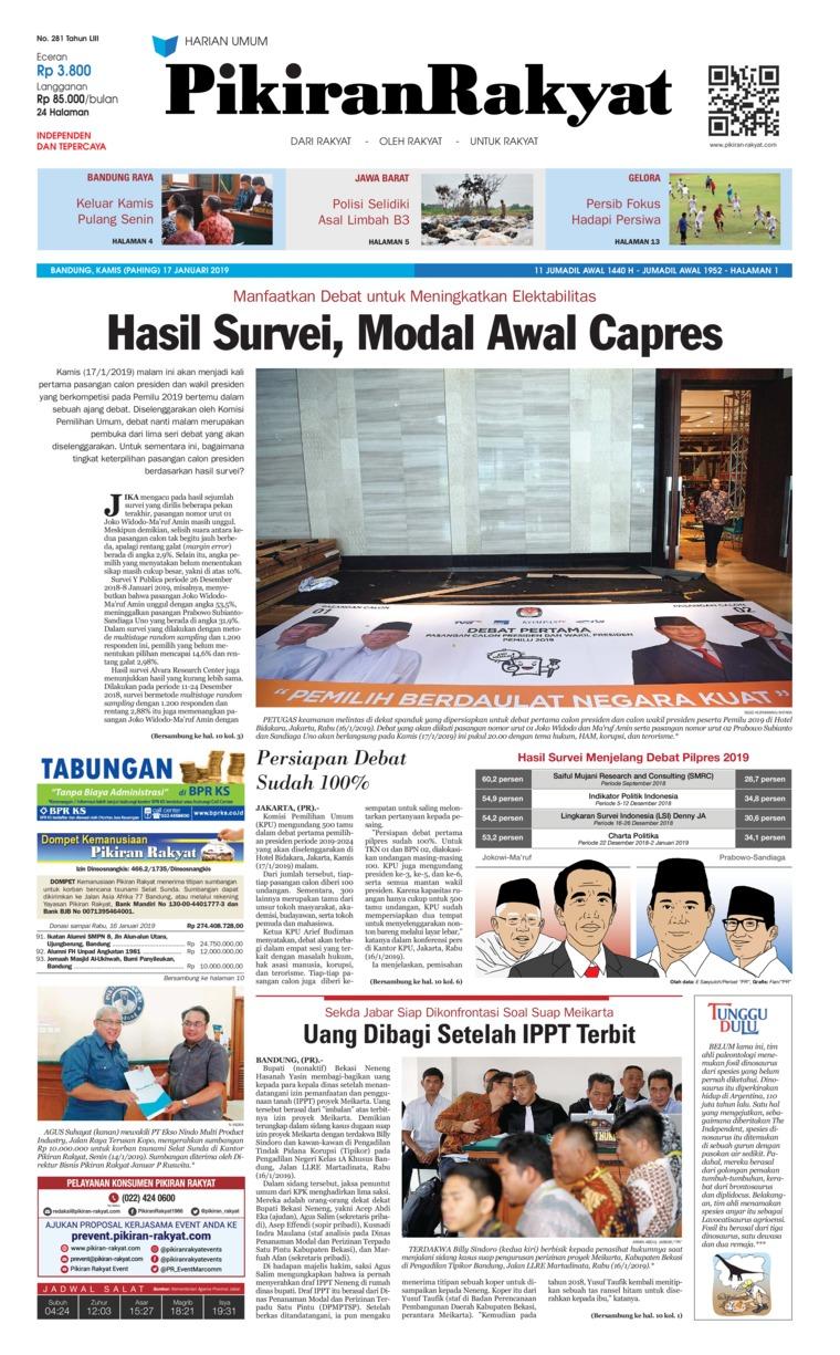 Koran Digital Pikiran Rakyat 17 Januari 2019