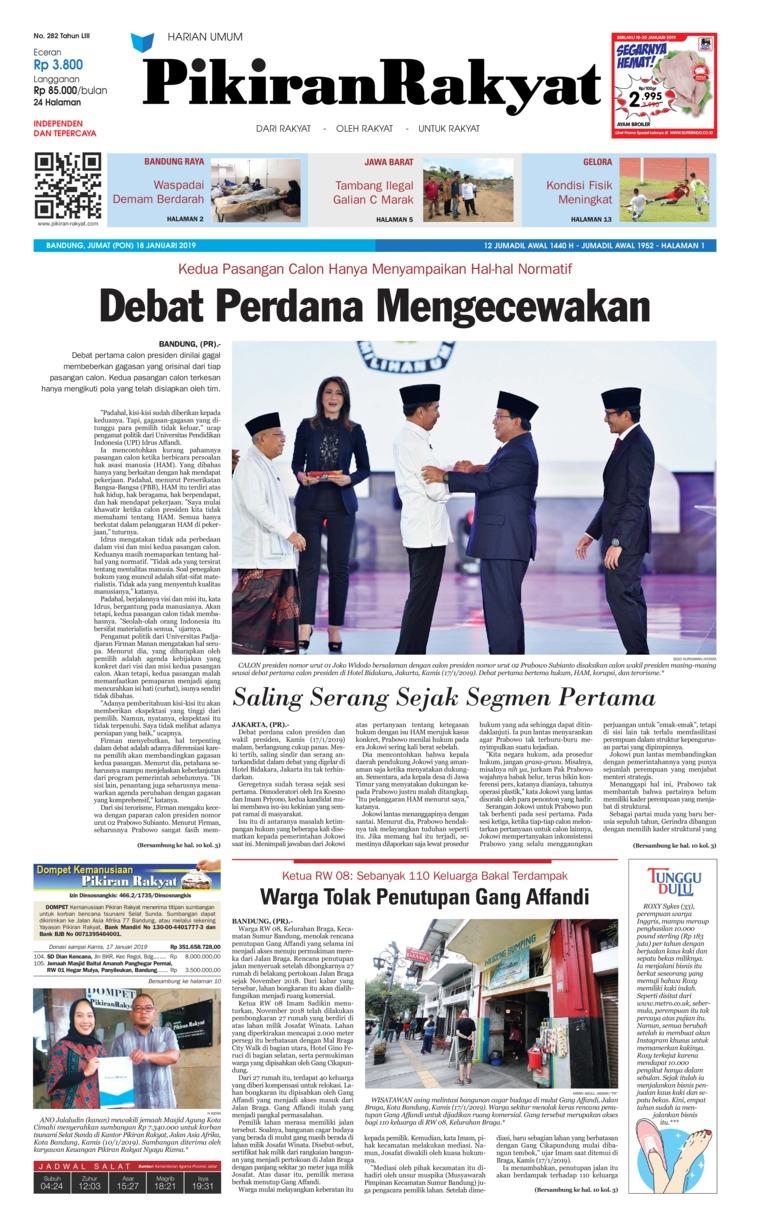 Koran Digital Pikiran Rakyat 18 Januari 2019
