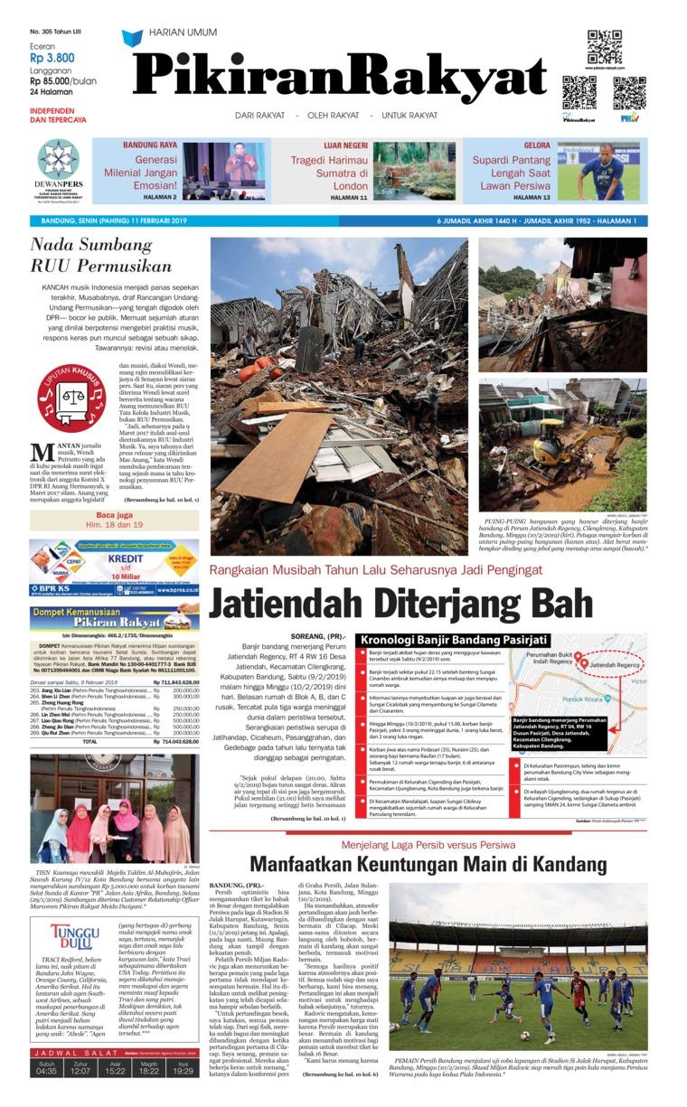 Koran Digital Pikiran Rakyat 11 Februari 2019