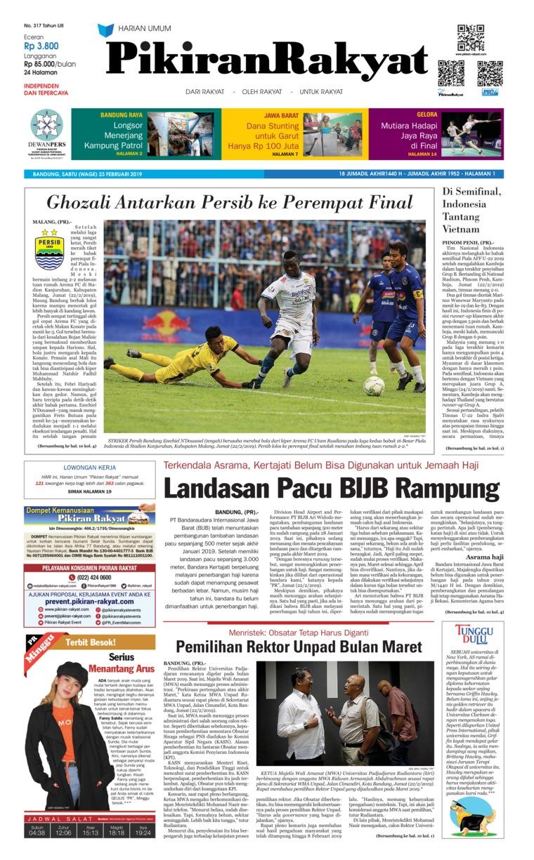 Koran Digital Pikiran Rakyat 23 Februari 2019