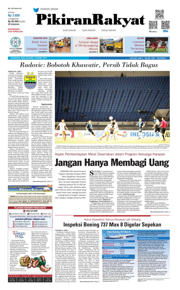 Koran Digital Pikiran Rakyat 13 Maret 2019