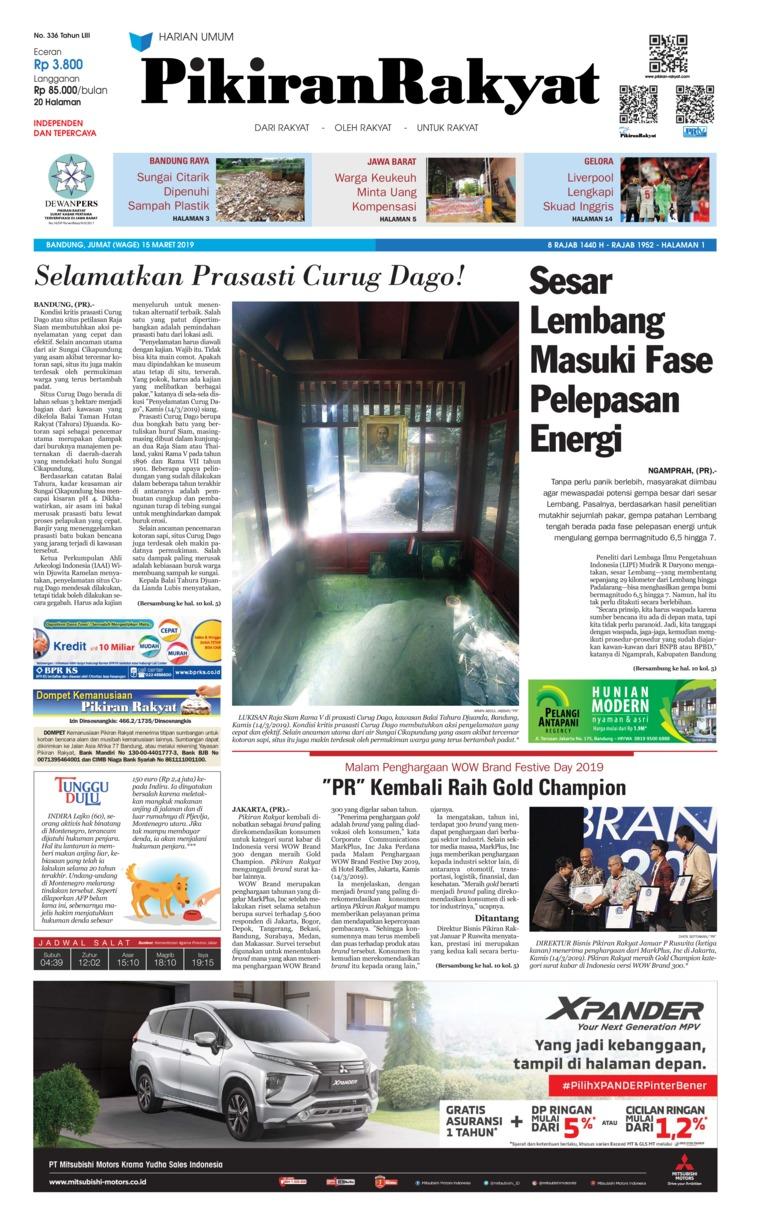 Koran Digital Pikiran Rakyat 15 Maret 2019