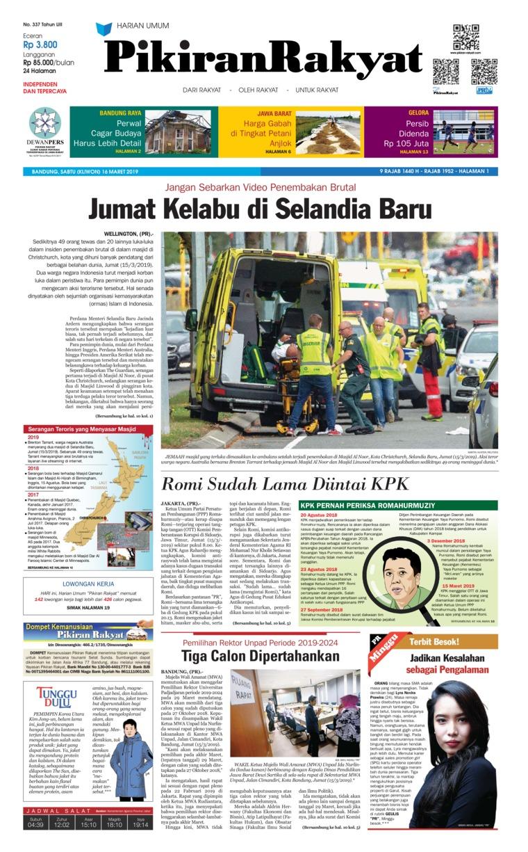 Koran Digital Pikiran Rakyat 16 Maret 2019