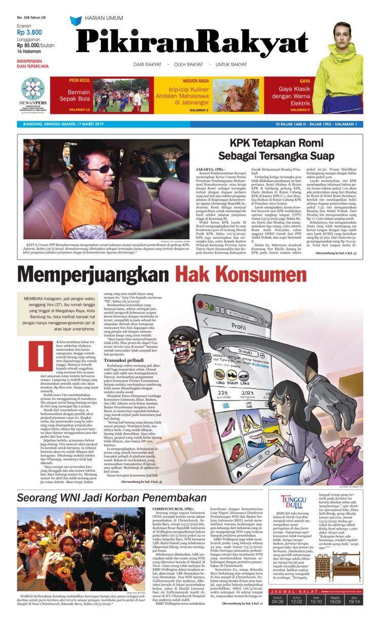 Koran Digital Pikiran Rakyat 17 Maret 2019