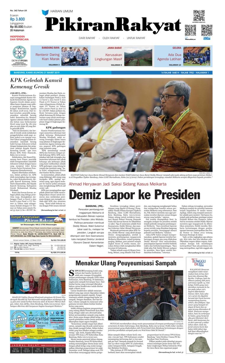 Pikiran Rakyat Digital Newspaper 21 March 2019