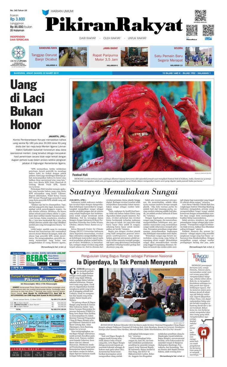 Pikiran Rakyat Digital Newspaper 22 March 2019