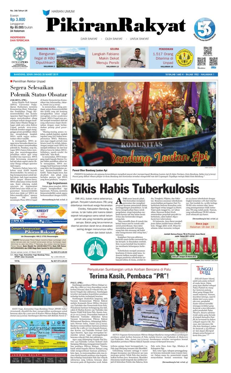 Koran Digital Pikiran Rakyat 25 Maret 2019