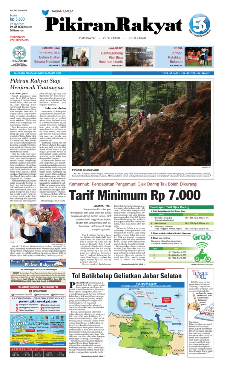 Pikiran Rakyat Digital Newspaper 26 March 2019