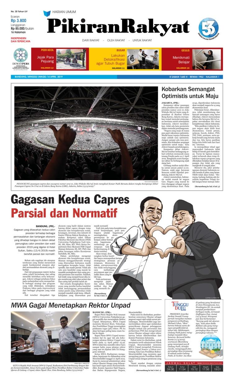 Koran Digital Pikiran Rakyat 14 April 2019