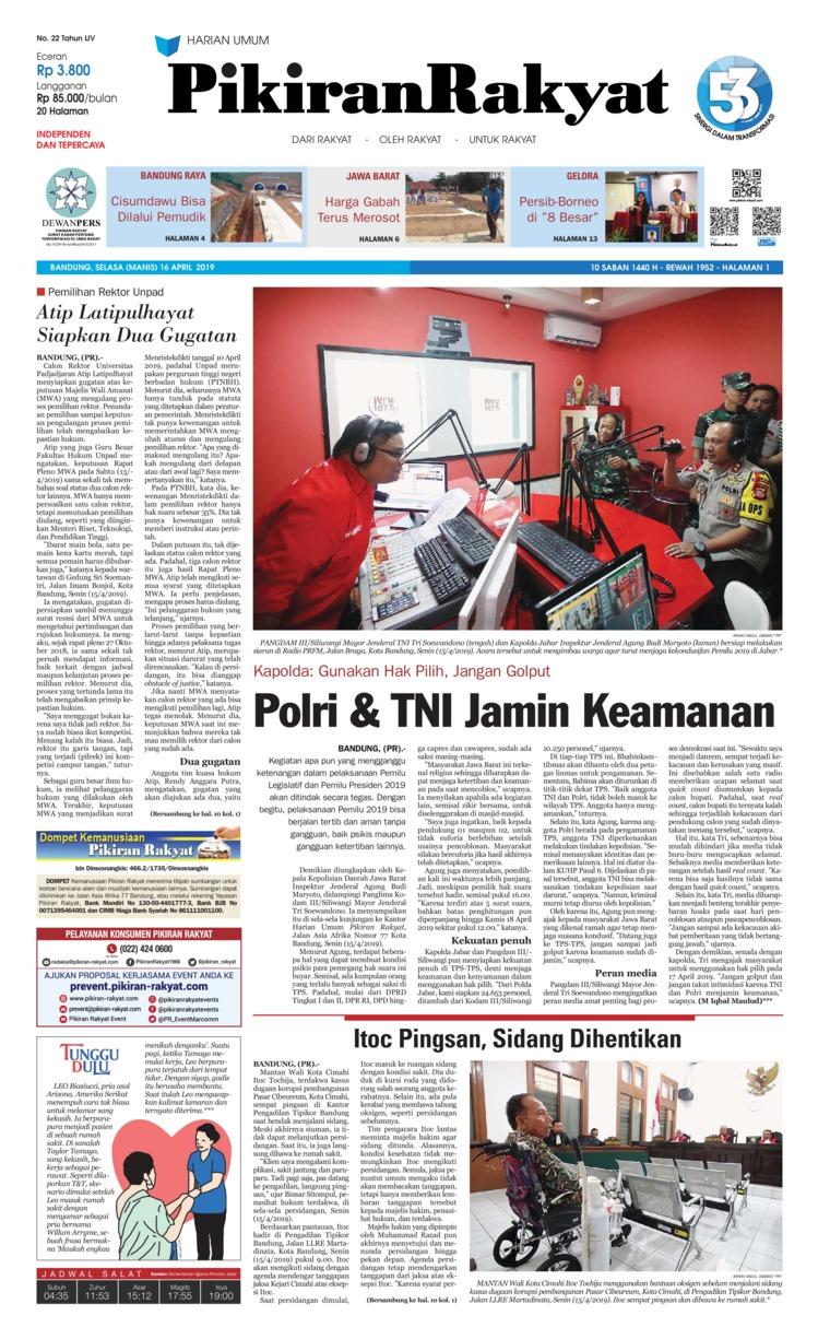 Koran Digital Pikiran Rakyat 16 April 2019