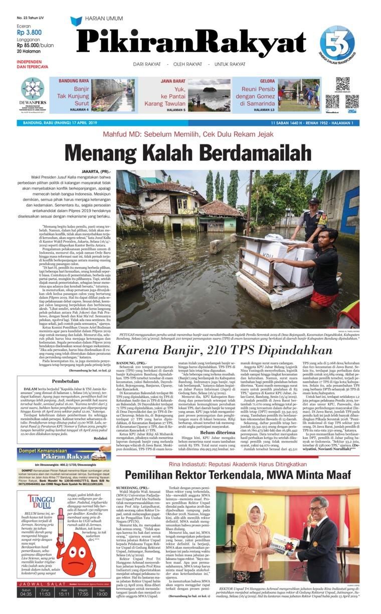 Koran Digital Pikiran Rakyat 17 April 2019