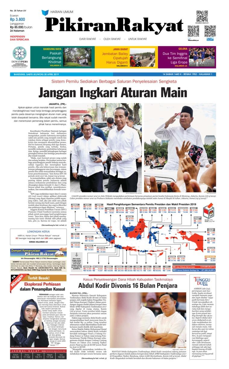 Koran Digital Pikiran Rakyat 20 April 2019