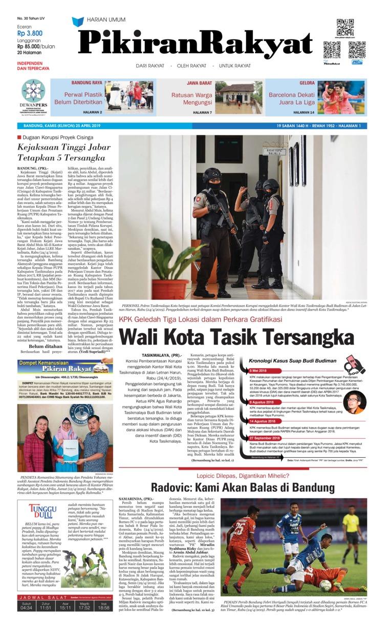 Koran Digital Pikiran Rakyat 25 April 2019